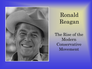 Powerpoint on Reagan and Bush