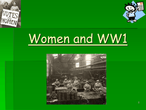 Women & WW1 - Coatbridge High School