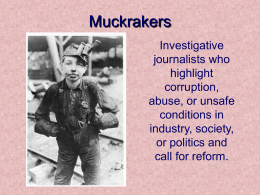 Muckrakers - Binghamton City School District