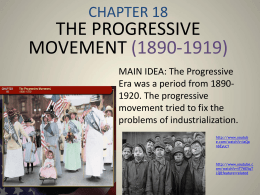 the progressive movement (1890-1919)