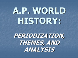 periodization, themes, and analysis ap world history