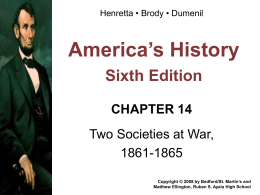 Chapter 14 Henretta Power Point