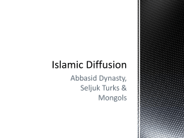 Islamic Diffusion - Mounds View School Websites