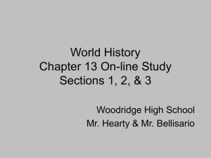 World History Chapter 13 On-Line Study Guide