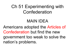 Ch 5_1 Experimenting with Confederation