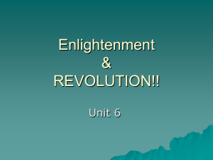 Enlightenment & REVOLUTION!!