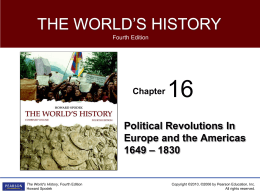 Chapter 16 _Political Revolutions in Europe