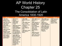 AP World History Chapter 25