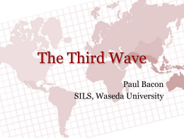The Third Wave - WordPress.com