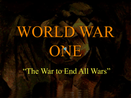 chapter 25 - The Road to World War I