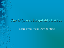 The Odyssey: Hospitality Essays