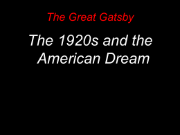 Great Gatsby and Roaring 20s intro