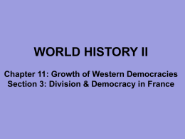 C11, S3 - Division & Democracy in France