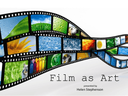 Film As Art (ppt)