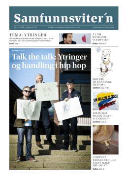 Talk the talk: Ytringer og handling i hip hop
