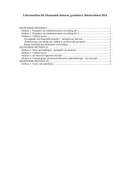 Litteraturlista EH GN ht 2014 - Ekonomisk