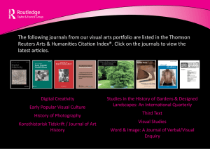 listed in the Thomson Reuters Arts & Humanities Citation Index
