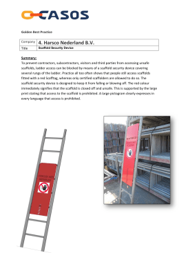 Scaffold Security Device