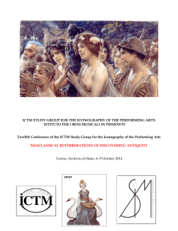 ICTM STUDY GROUP FOR THE ICONOGRAPHY OF THE