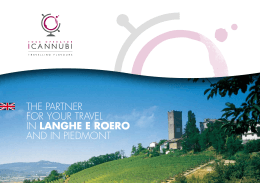 THE PARTNER FOR YOUR TRAVEL IN LANGHE E ROERO AND IN