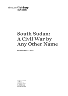 South Sudan: A Civil War by Any Other Name