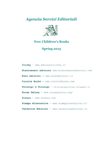 Agenzia Servizi Editoriali New Children`s Books Spring 2015