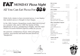 FAT MONDAY Pizza Night