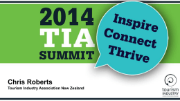 Presentation slides - Tourism Industry Association New Zealand