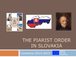 History of the Piarist Order in Slovakia
