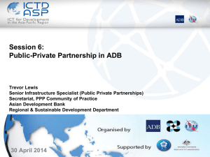 Public-Private Partnership (PPP) Operational Plan - ICTD-ASP