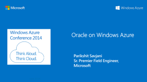 Oracle on Windows Azure