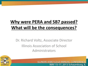 Why were PERA and SB7 passed? What will be the consequences?