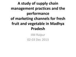 A study of supply chain management practices and the