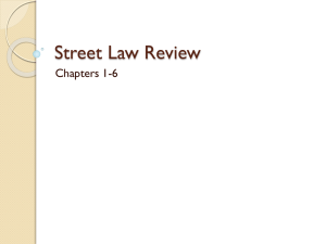 Street Law Review
