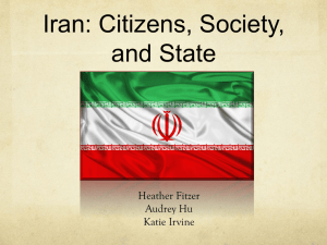 Iran: Citizens, Society, and State