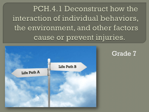 PCH.4.1 Deconstruct how the interaction of individual behaviors, the