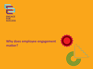 Employee Engagement - the evidence