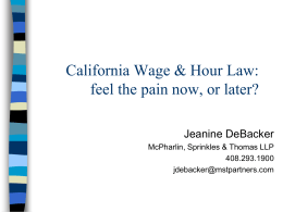 CA_Wage_and_Hour_Law_Jeanine_DeBacker_May_2012