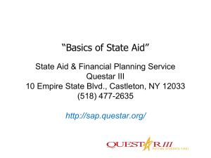 Basics of State Aid - State Aid and Financial Planning Service