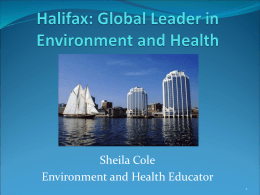 The view from Nova Scotia - Environmental Health Association of