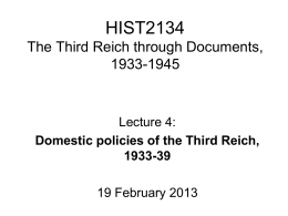 Domestic policies of the Third Reich, 1933-39