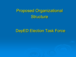 Election Task Force - Department of Education Regional Office 6