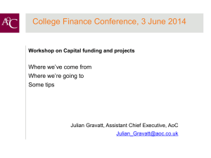 AoC Finance 3 June 2014 Capital