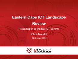 ECSECC Powerpoint Template - The Eastern Cape ICT Summit