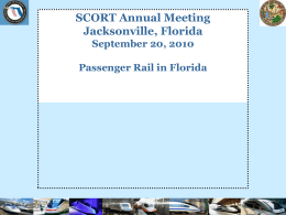 Florida High Speed Rail A Call to Action