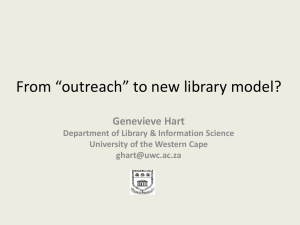 "From ""outreach"" to new library model"