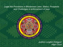 Legal Aid Provisions in Bhutanese Laws
