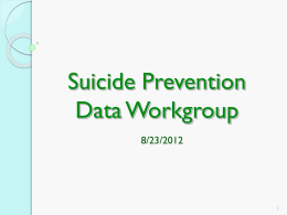 Data Workgroup Presentation 8/23