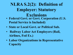 Section 2(3) Definition of Employee