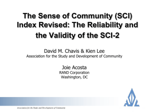Presentation on SCI-2 initial results/reliability